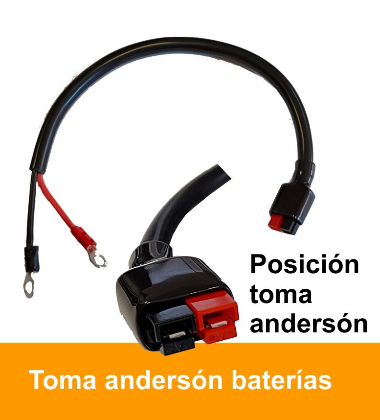 Cable para batería con toma Anderson