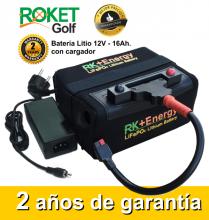 BATERÍA DE LITIO RK+Energy 12V. 16Ah. CON CARGADOR