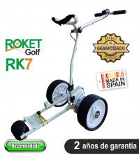 Carro de golf eléctrico ROKET RK7 BLANCO SIN BATERÍA