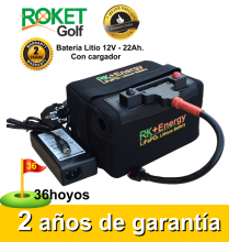 BATERÍA DE LITIO RK+Energy 12V. 22Ah. CON CARGADOR