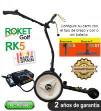 Carro de golf eléctrico ROKET RK5 con batería de Litio 16Ah.
