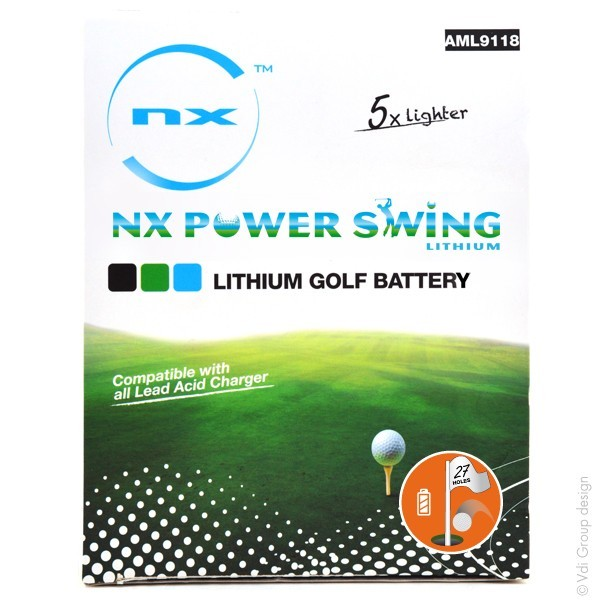 BATERÍA DE LITIO NX POWER SWING, 12V. 16Ah. CON CARGADOR