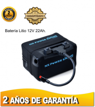 BATERÍA DE LITIO NX POWER SWING, 12V. 22Ah. SIN CARGADOR