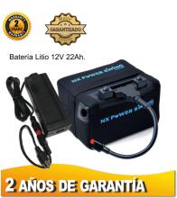 BATERÍA DE LITIO NX POWER SWING, 12V. 22Ah. CON CARGADOR