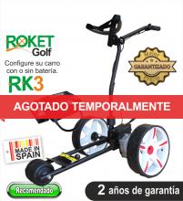 Carro de golf eléctrico ROKET RK3 con batería de Litio 16Ah.