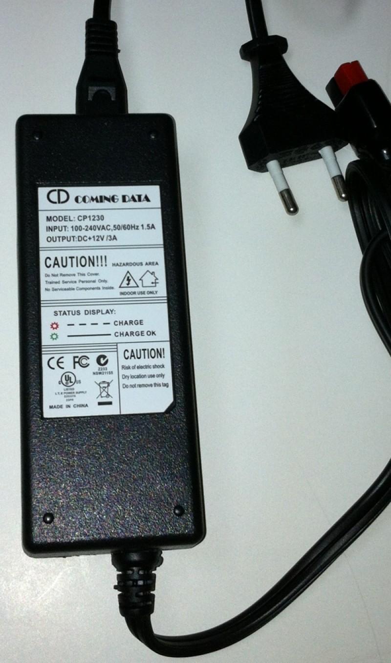 Cargador batería Gel y AGM 12V 3Ah.