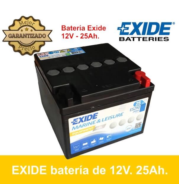BATERÍA GEL EXIDE 12V. 25Ah. ES290