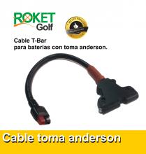 Cable para batería T-Bar con toma Anderson