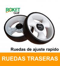 RUEDA CARROS DE GOLF ROKET-CLIK, ( 2 Und. R y L ) Universal ajuste rapido.