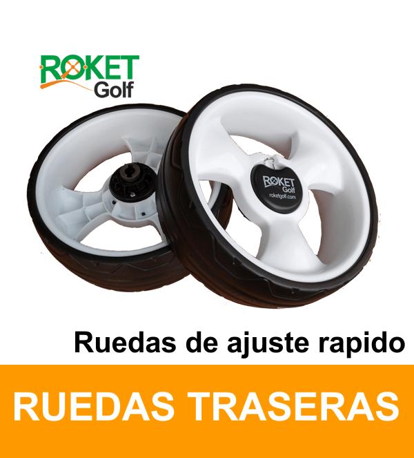 RUEDA CARROS DE GOLF ROKET-CLIK, ( 2 Und. R y L ) ajuste rápido.