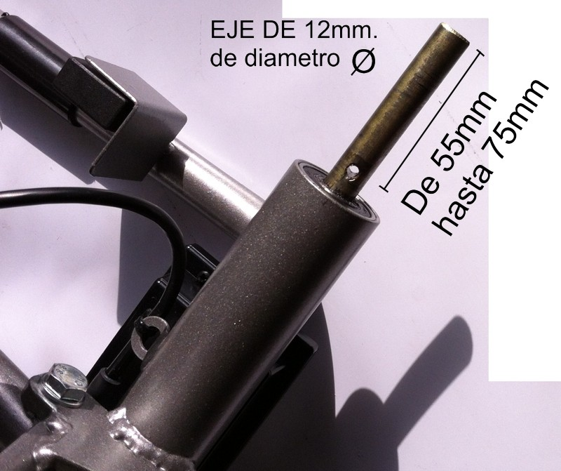 RUEDA CARROS DE GOLF ROKET, ( 2 Und.) para todos los carros con eje 12mm.