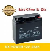 BATERIA AGM NX POWER 12V 20Ah.